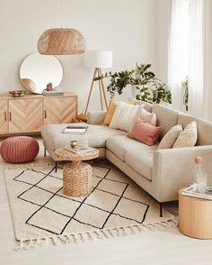 Boho Living Room, Living Room Interior, Living Room Decor, Bedroom Decor, Ikea Interior, Beige Living Rooms, Interior Livingroom, Bohemian Living, Living Room Colors