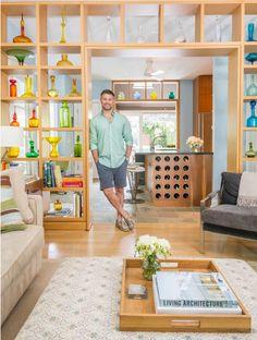 NY Architect Matt Berman  in his renovated home at the New Jersey Shore