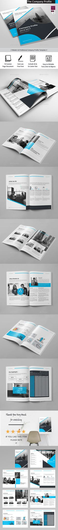The Company Profile — InDesign INDD #brochure #unique • Download ➝ https://graphicriver.net/item/the-company-profile/18923069?ref=pxcr