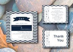 Wedding Invitation Set  - CHEVRON - DIY Custom Printable Template. $25.00, via Etsy.