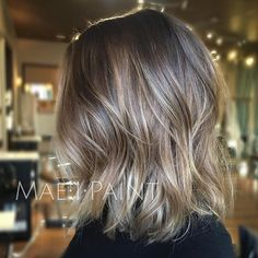 Trendy HairStyles Ideas : Ashy blonde lob. Working our way to silver and having fun in the process! #ma