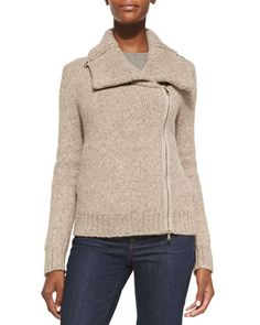 Ledella Knit Two-Way Zip Moto Jacket by Christopher Fischer at Neiman Marcus.