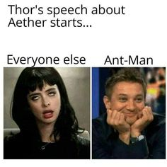 I loved that the Avengers were tired of Thors shit but Scott was still there being a fanboy and. I loved that the Avengers were tired of Thors shit but Scott was still there being a fanboy and meeting his first Asgardian Funny Marvel Memes, Marvel Jokes, Avengers Memes, Marvel Avengers, Marvel Comics, Luis Memes, Scott Lang, Movie Facts, Dc Movies