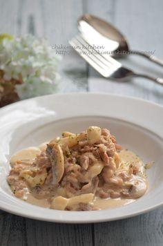 牛肉とキノコのスピードクリーム煮 by 松尾絢子(ちきむん) 「写真がきれい」×「つくりやすい」×「美味しい」お料理と出会えるレシピサイト「Nadia   ナディア」プロの料理を無料で検索。実用的な節約簡単レシピからおもてなしレシピまで。有名レシピブロガーの料理動画も満載!お気に入りのレシピが保存できるSNS。