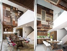Gorgeous patchwork of wooden louvers visually transforms this home interior in Vietnam   Inhabitat - Sustainable Design Innovation, Eco Architecture, Green Building