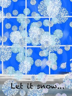 Let it snow by Christine Fournier #Christmas #leaving car #snowflake #winter #snow