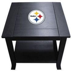 0c02057e2 NFL Pittsburgh Steelers Side Table Black