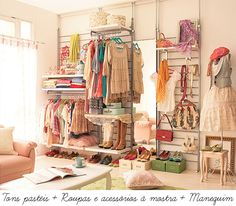 I love the colors in this closet. #matildajaneclothing #mymjcdreamcloset