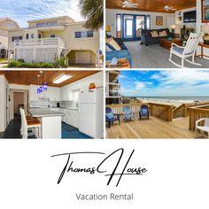 Thomas House is a seven-bedroom, four-bath oceanfront home located three miles south of Garden City Pier. #BeachHouse #FamilyVacation #VacationRental #GardenCityBeach #SummerVacation #MyrtleBeach #OnTheWater #Oceanfront VacationHome #BookDirect #BeachLife #PlanYourTripWithUs #BeachVibes #NeedAVacation #Rental #PrivateVacationHome #BeachTime #SouthCarolina #FamilyVacation #Travel #Getaway #GardenCityRealty Garden City Beach, Need A Vacation, Vacation Rentals, Beach House, Home And Garden, Bath, Mansions, Bedroom, House Styles