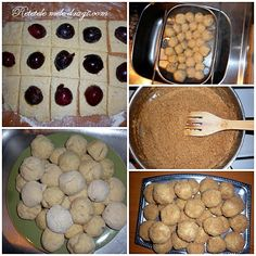 Galuste cu prune Romanian Food, Romanian Recipes, Healthy Recipes, Healthy Food, Beverages, Cookies, Desserts, Sweets, Deserts