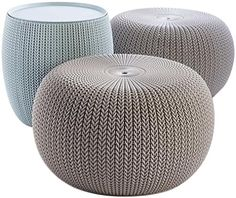 Shop a great selection of Keter Urban Knit Pouf Ottoman Set 2 Storage Table Patio Decor, Dune/Misty Blue. Find new offer and Similar products for Keter Urban Knit Pouf Ottoman Set 2 Storage Table Patio Decor, Dune/Misty Blue. Outdoor Ottomans, Outdoor Pouf, Outdoor Seating, Outdoor Chairs, Indoor Outdoor, Outdoor Furniture, Outdoor Decor, Outdoor Living, Lounge Chairs