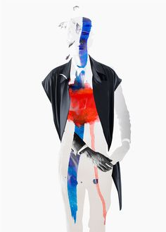 Mixed-Media Fashion  :  Designer -Sixlee/Artist - Ernesto Artillo