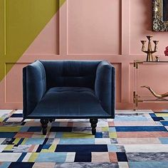 Living room Hotel Carpet, Rugs On Carpet, Hallway Inspiration, Color Inspiration, Entrance Hall, Season Colors, Design Awards, Armchair, House Design