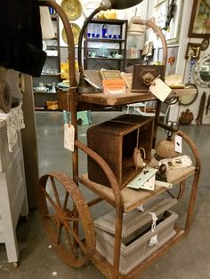 Industrial cart, repurposed, $350.  Gaslamp Antiques Too, booth T366.