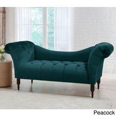 $707, Skyline Furniture Mystere Velvet Fabric Chesterfield Loveseat