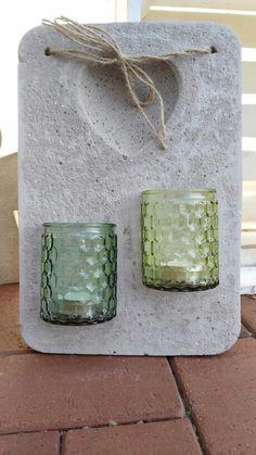 Beton Wanddeko für Teelichter