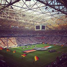 Last test before Euro 2016 starts ⚽️🏆 #GERHUN #diemannschaft #jederfuerjeden #weltmeister #champions #DFB #football #soccer #matchday #germany #hungary #friendlymatch #gelsenkirchen #stadium #veltinsarena #schalke #s04 #picoftheday #nationalteam #vivelamannschaft #schwarzrotgold #euro2016 #groundhopping