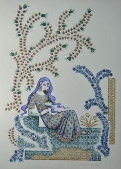 ANNE KRISTIN SCHALLER Inderin HANDSIGNIERT E.A. 1986 auf Bütten Indien India