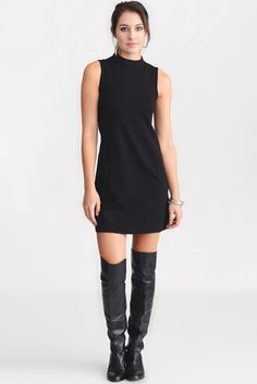 Sanctuary Mod Dress in BLACK