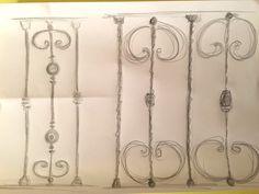 giocare con i disegni per il balcone ringhiere in ferro battuto