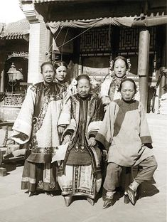 Chinese women with bound feet - no wonder they are all frowning...