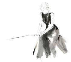 Yoco Nagamiya Beauty Illustration, Fashion Illustration Sketches, Fashion Sketches, French Illustration, Sketch Painting, Watercolor Sketch, Watercolor Face, Unique Drawings, Beautiful Drawings