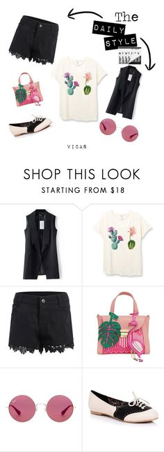 """THE DAILY STYLE ""Go to the market"""" by vicas-art ❤ liked on Polyvore featuring Ray-Ban, Pink, Cactus and summerstyle"