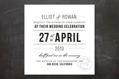 Certified Chic Wedding Invitations by j.bartyn at minted.com