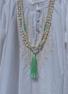 tassel necklace yoga necklace pink door yogabytheseadesigns