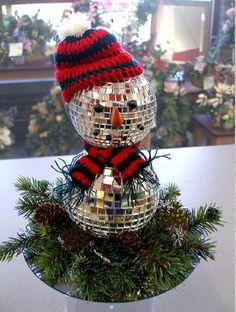 DISCO ball snowman