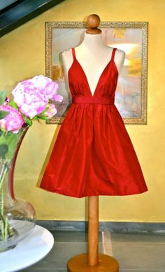 Red dress with bow size 4