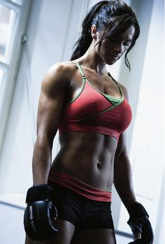 Amazing toned arms and abs.
