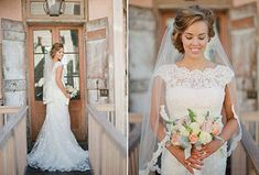 Wedding Inspiration: Southern Style Wedding Dresses..love the high neck line on this dress