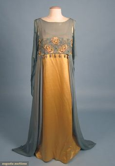Liberty & Co. evening dress ca. 1908-1901 via Augusta Auctions:
