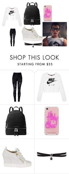 """that day you what your man wants it"" by hansen-diamond on Polyvore featuring NIKE, MICHAEL Michael Kors, Rebecca Minkoff, Giuseppe Zanotti and Fallon"