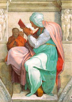 Sixtinische Kapelle, Michelangelo, Persische Sibylle (Persian Sibyl) by HEN-Magonza, via Flickr
