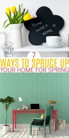 Seven tips for perfect spring decor in your home. Creating vignettes, fresh flower arrangements, and more! #spring #decoratingtips