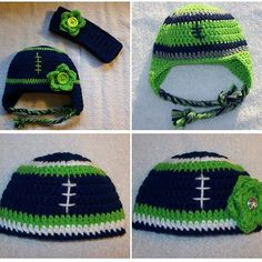 Seattle Seahawks football hats. The bottom two are available in my Etsy shop (link in bio). The others or other teams colors, can be done as a custom order. All sizes available, from newborn to adult. #seattlewa #seattleseahawks #seahawksfan #seattle #seahawkswag #enchantingcreations7 #seahawksnation #12thman #beastmode #footballhat #seahawkhats #seahawkfootballhat #pagepal #crochetfootballhat #crochetfootball #crochetaddict #crochet #crochetingisfun #crocheting #etsyshop #etsy #madetoorder…