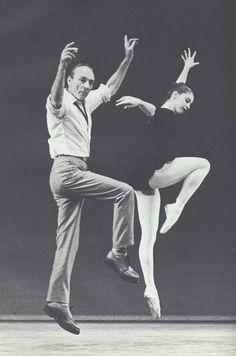 George Balanchine practices with his student and dance prodigy, Susan Farrell.