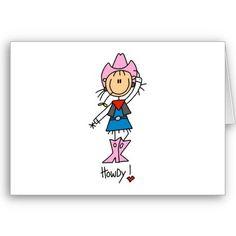 Cowgirl stick figure