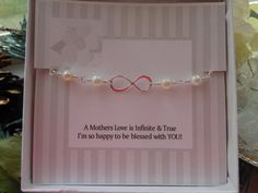 Mother of the Bride Gift Infinity Bracelet by TheButterflyGarden7, $28.00