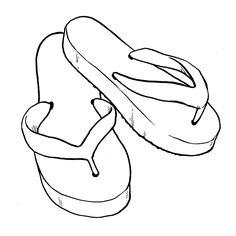 flip flop coloring pages | FlipFlop