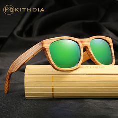 6d01d56109 KITHDIA Zebra Wooden Sunglasses Men Bamboo Sunglasses Women Brand Designer  Vintage Wood Sun Glasses Oculos de