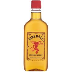 Fireball Whiskey Whispers Temptation In My Ear ❤ liked on Polyvore featuring food, drinks and filler