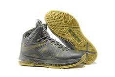 detailed look 124ea beb99 1914   Nike Lebron X Herr Fluorescerande Gul Silver