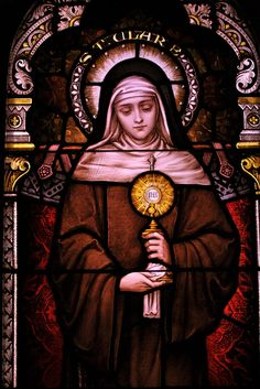 Sr. Mary's stained glass collection - St. Clare, via Flickr.