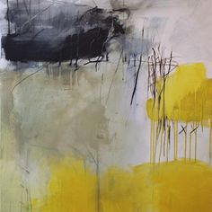 Love this painting. The colors are devine, black and yellow abstract. Artist is Denise Eyer-Oggier. Has a really nice balance of form, color, negative space. Love it!