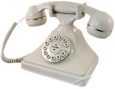 1930 Old Style Retro Corded Desk Phone ASH