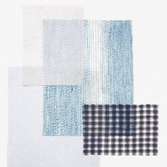 The beauty of subtle qualities. Fine materials, clear structures and raw surfaces from the exquisite curtain brand @kinnasand -this is what's it is all about! #anewtakeonwindowdressing #curtains #kinnasand #samples #blueshades #rawmaterials #inspiration #quality #simple #isaglink