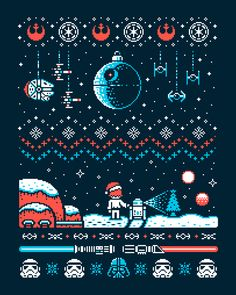 Cool Christmas sweater.  Snow Moon by Drew Wise - Star Wars